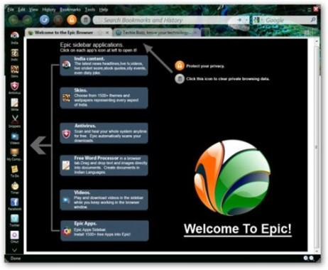 EPIC Web browser