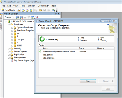 Generate Script with data in SQL Server 2008 steps10