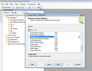 Generate Script with data in SQL Server 2008 steps5