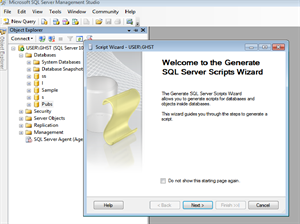 Generate Script with data in SQL Server 2008 steps3