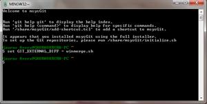git setting up winmerge as external tool