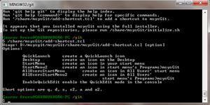 Git-Create Shortcut