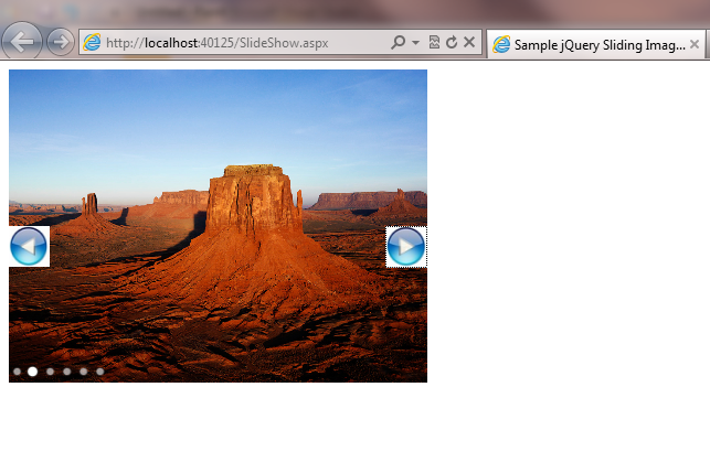 Sliding Image using JQuery