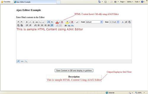 AJax_Editor_Output