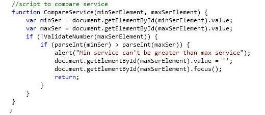 6. Script to compare service(Min Service Period and Maximum Service Period)