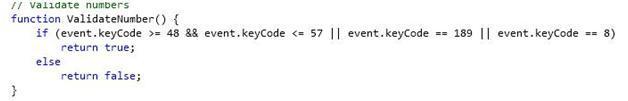 7. Validate numbers