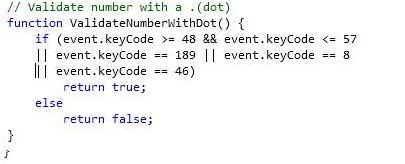 12. Validate number with a .(dot)