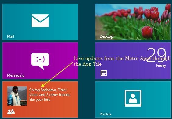 Metro App Tiles