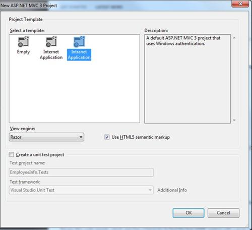 ASP.net MVC3 Project Template