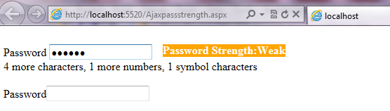 Passwordstrengthtext