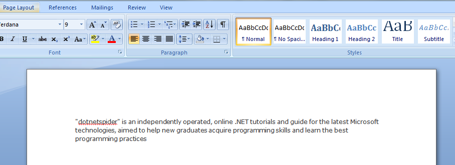 How to show Microsoft Word Document content in browser using ASP.NET