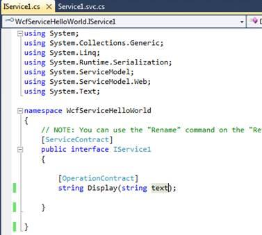 how to create wcf service in vs 2010