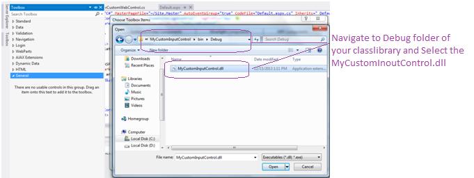 custom webserver control dll