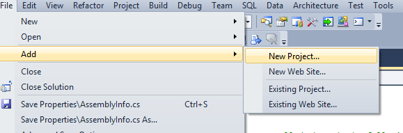 Create SSIS project