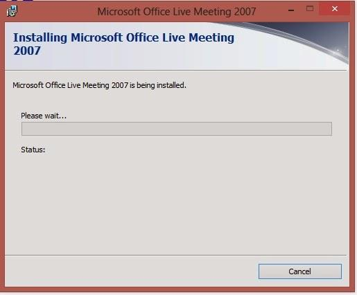 Install Microsoft Live Meeting
