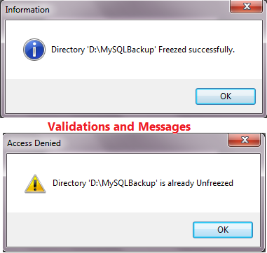 Validations and Messages