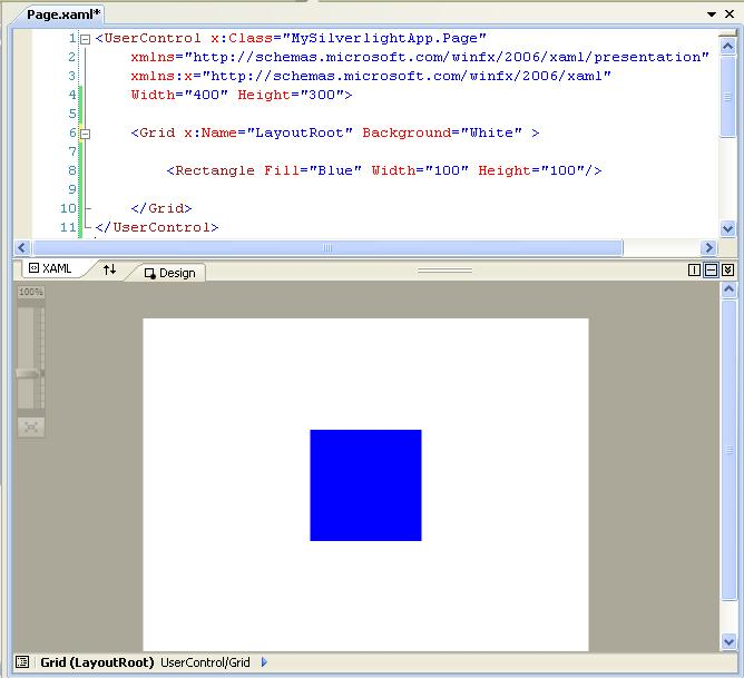 Silverlight tutorials: Getting started with XAML tags