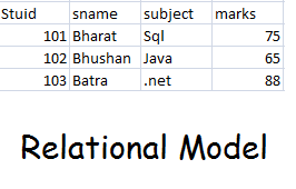 Relational model or network structure