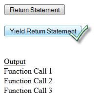 Yield Statement