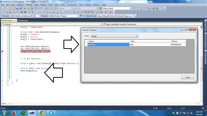 How to Merge two Datasets or Datatables in Asp net Using C#