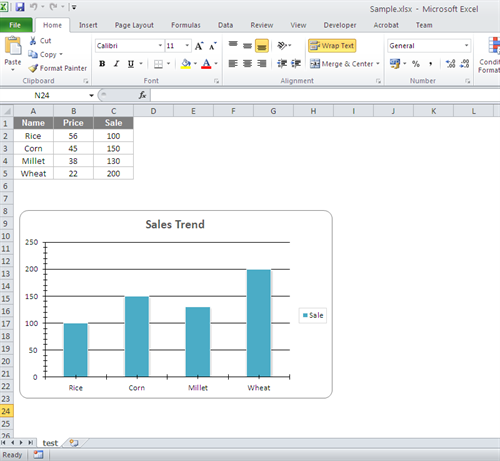 Create Excel Chart and Export Chart as Image in C#
