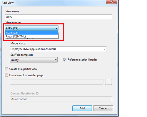How to Select View Page for Bind Records in MVC4